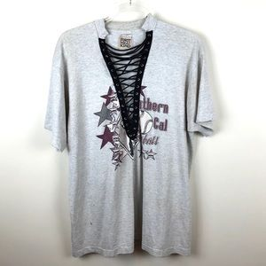 Furst of a Kind LF Upcycled Lace Up Tee Shirt L